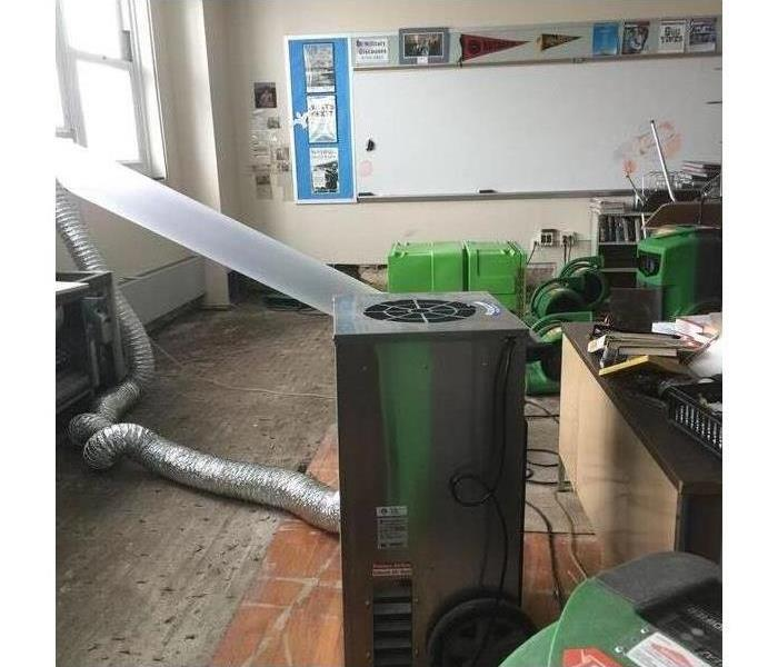 Equipment in a classroom